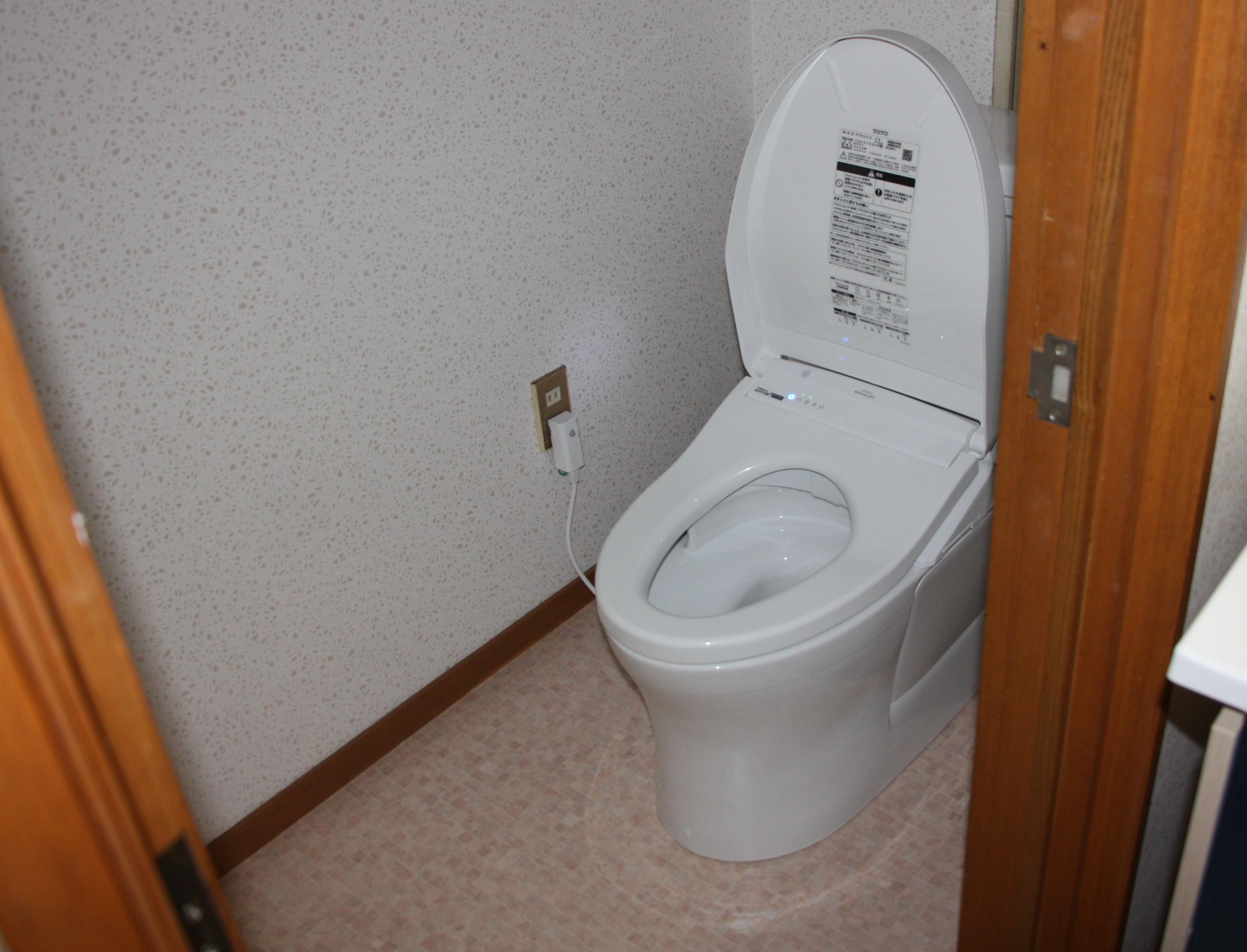 トイレ設置完了
